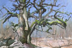 H.-stille-Riesen-DU-Baumportrait-RHW-...-MARGARETE-1-250-x-360-cm-Öl-auf-Leinwand-2019-