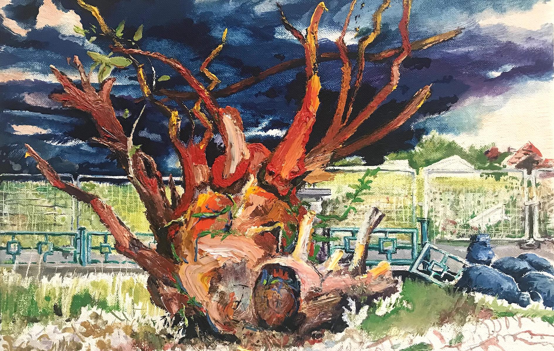 Gemälde Saxana Alle Dörfer bleiben